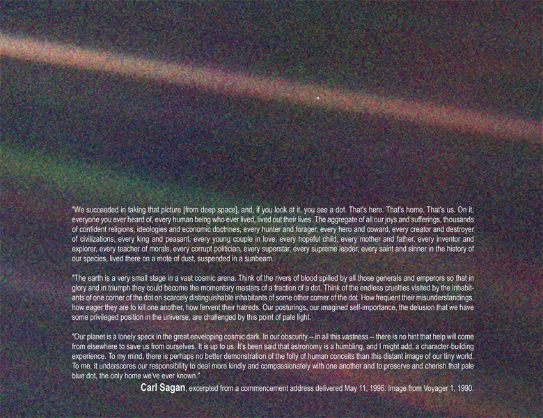 Carl Sagan's Pale Blue Dot
