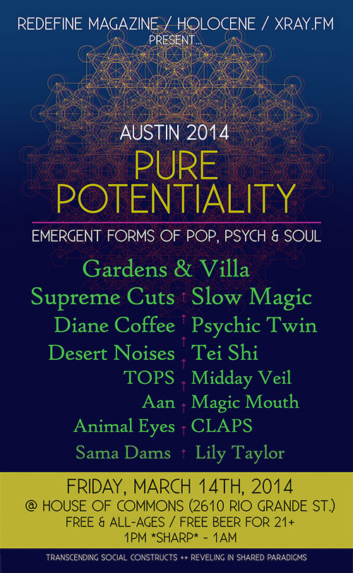 PURE POTENTIALITY: Emergent Forms of Pop, Psych & Soul