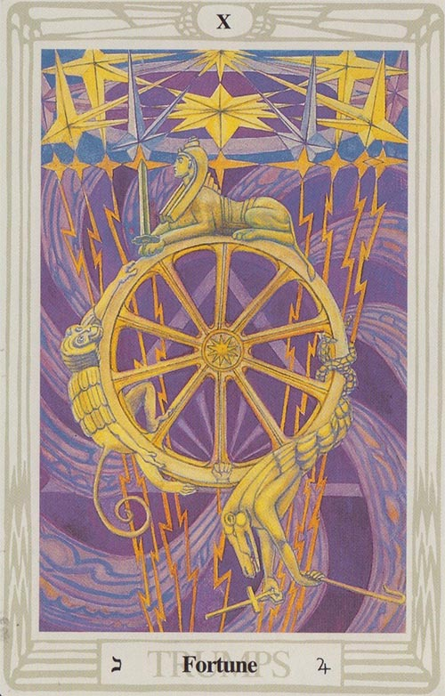 Wheel of Fortune - Thoth Tarot