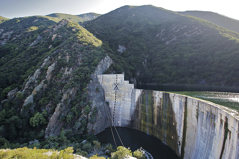 Matilija Dam with scissors showing the way forward.