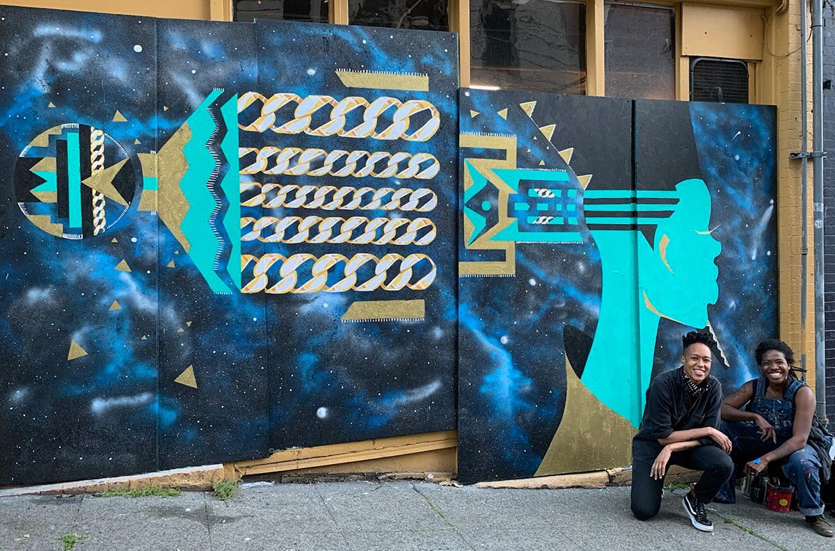 Zahyr Lauren - Mural w/ Aramis Hamer