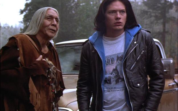 Ed alongside his ancestor spirit, One-Who-Waits